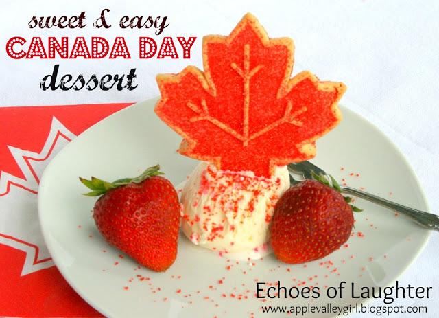 Easy Canada Day Dessert