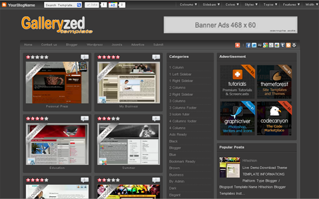 Galleryzed Blogger Templates