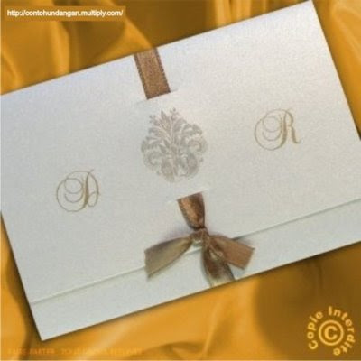 Contoh Surat Undangan Pernikahan Cantik Unik 4