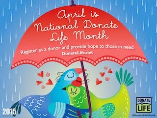 APRIL IS NATIONAL DONATION LIFE MONTH