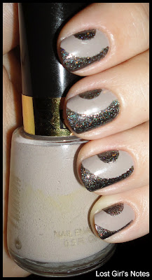 side half-moon manicure nail art