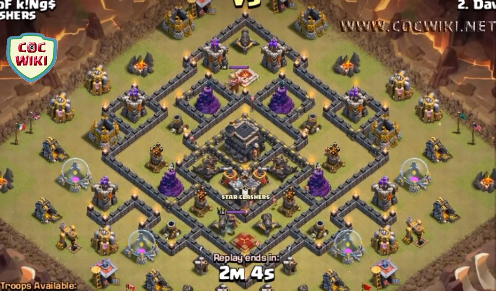 This layout is anti golem gowipe gowiwi dragon war layout