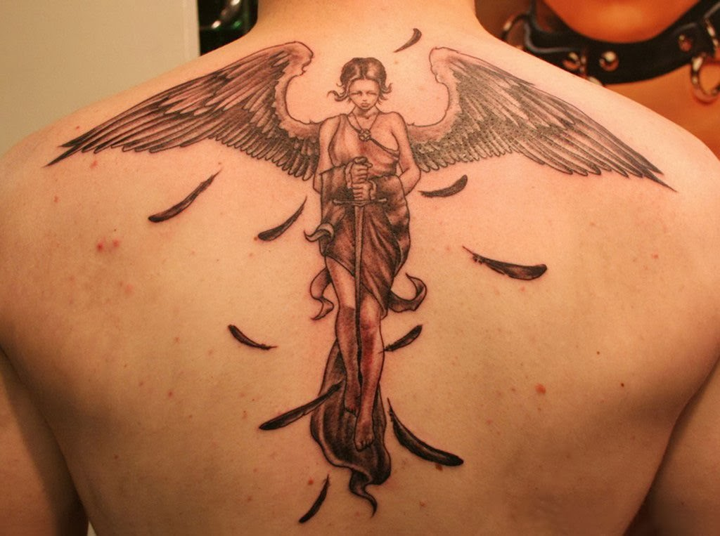 most excellent images of angel wings tattoos