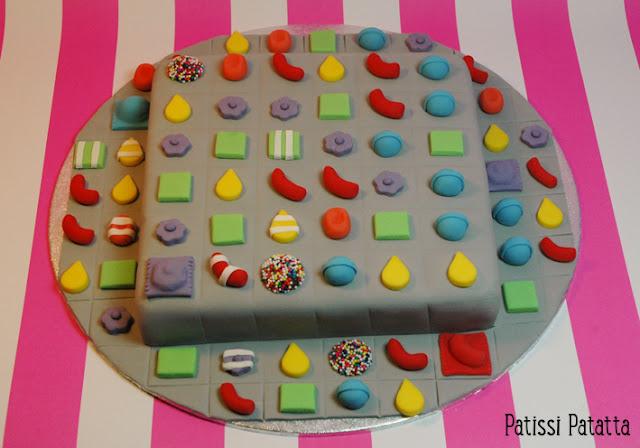 cake design, pâte à sucre, gumpaste, gâteau rigolo, gâteau 3D, candy crush cake,