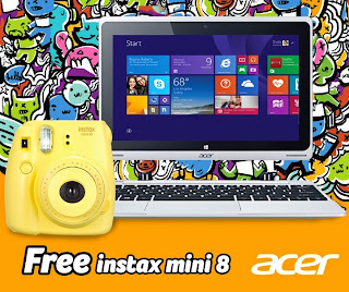 Free Instax Mini 8 For Every Purchase of Acer Aspire Switch