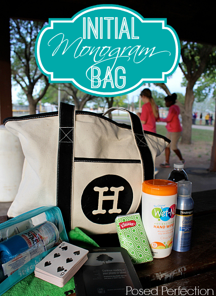 DIY Initial Monogram Tote Bag