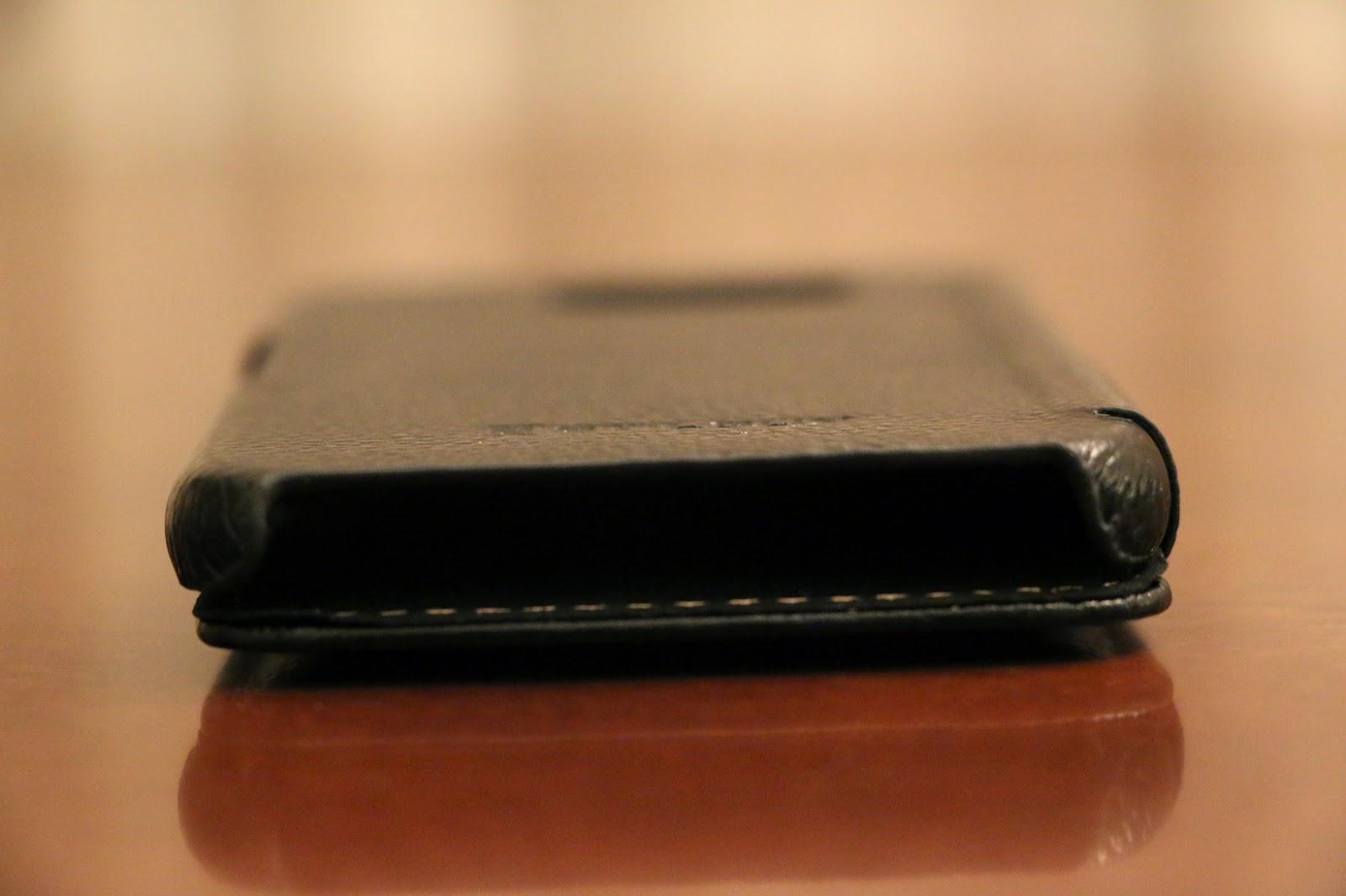 StilGut custodia Galaxy S6 modello Book Type nera aperta 2