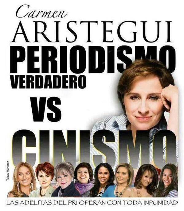 Ciudadanos se manifiestan en defensa de Carmen Aristegui  #EndefensadeAristegui