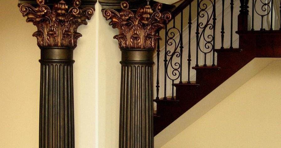 Indoor Decorative Columns : Decorative columns stylish element in modern interior