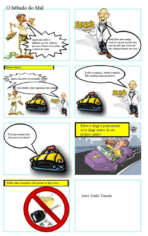 Placar da vida hist rias em quadrinhos incentivam o for Mural sobre o transito
