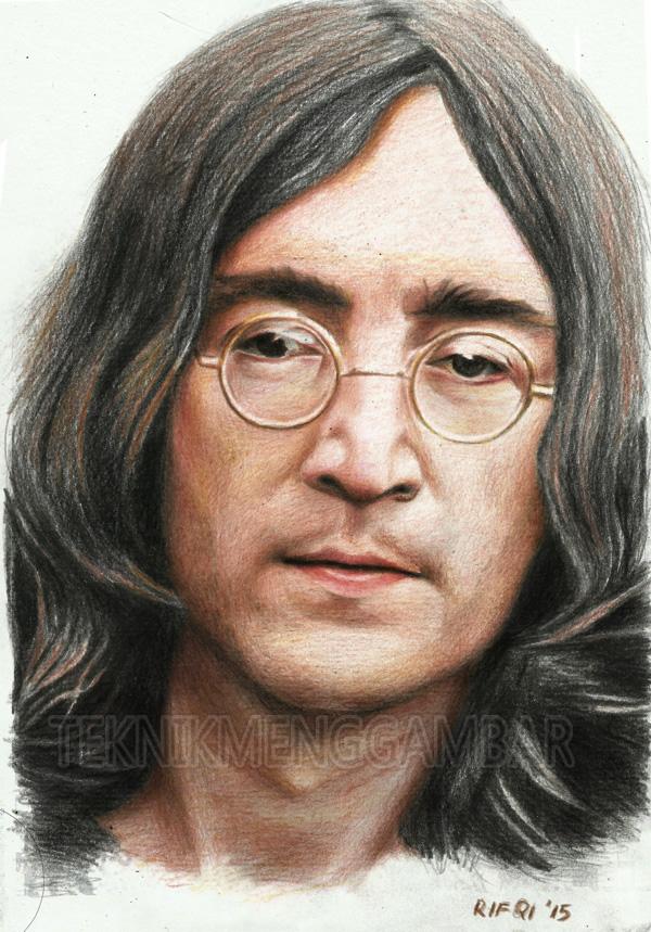Menggambar Wajah John Lennon - Teknik Menggambar