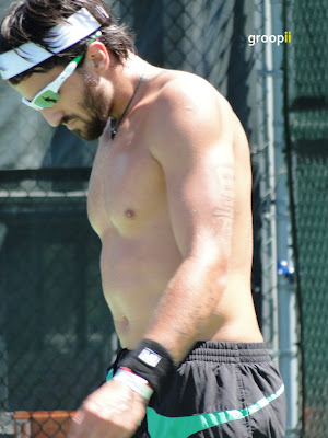Janko Tipsarevic Shirtless at Cincinnati Open 2010