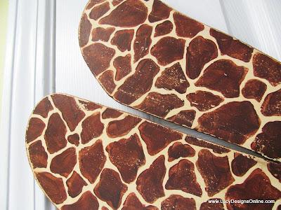 hand painted giraffe print