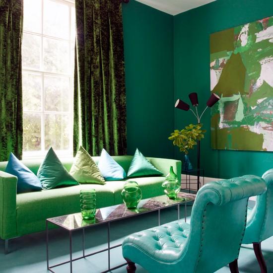 Shades of green todos los tonos del verde decoraci n retro for Decoracion de interiores verde