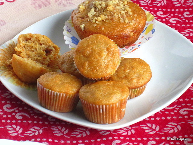 Eggless Carrot Yogurt Cupcake