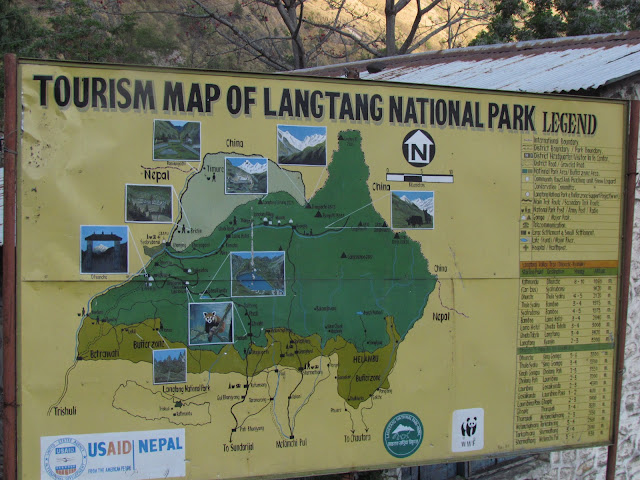 Tourism Map of Langtang National park