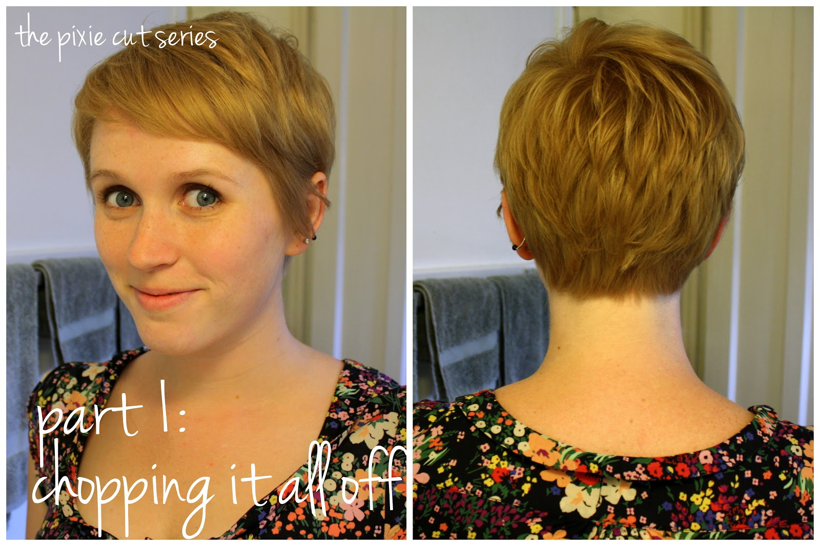 Short Pixie Cut Front and Back