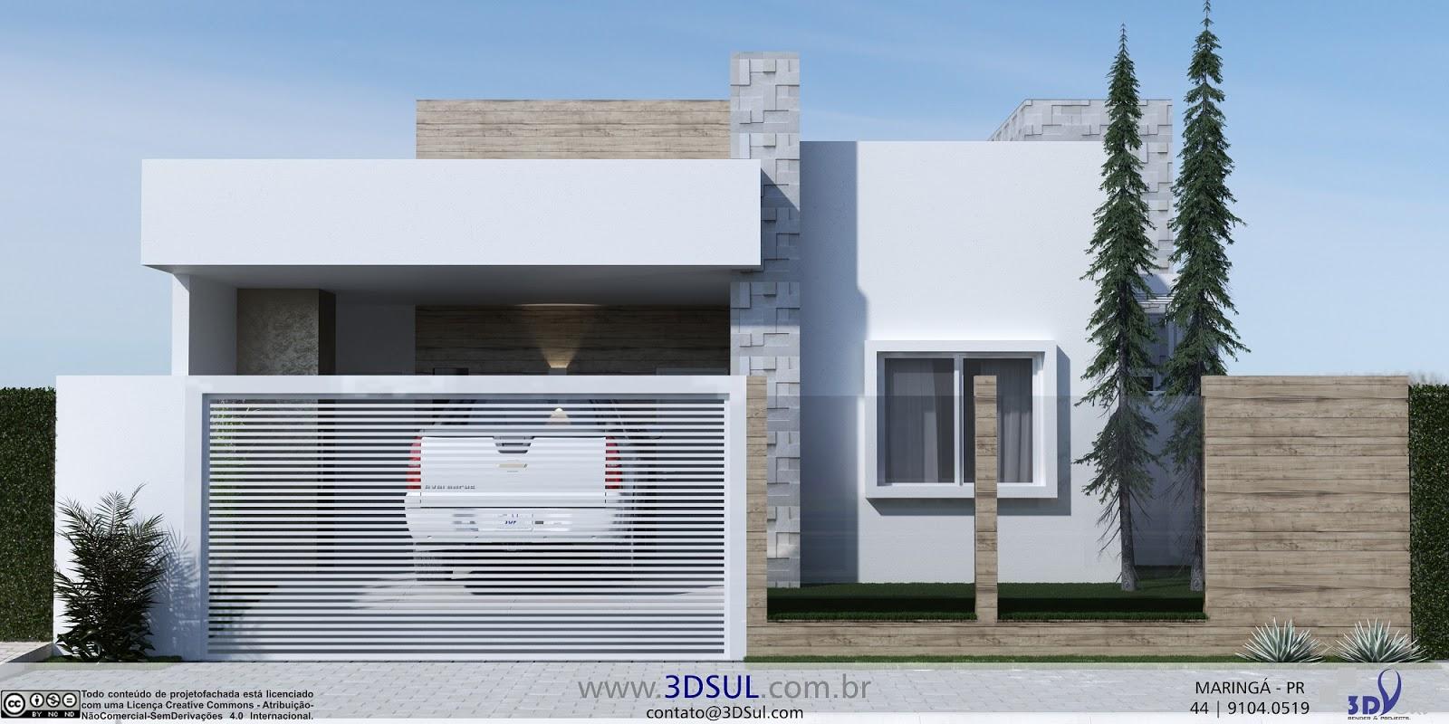 3dsul maquete eletr nica 3d arquitetura 3d fachada for Fachada de casas