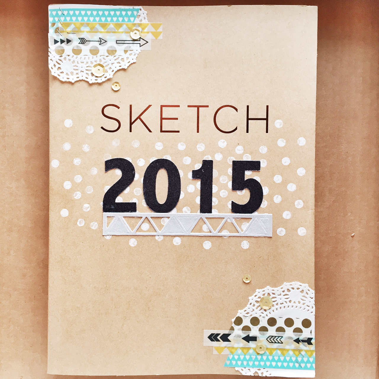 Sketch Book Cover ~ Stuckonusketches sous die cut challenge sketchbook cover
