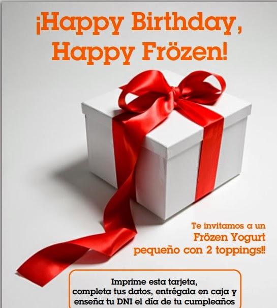 helado gratis cumpleaños Frozen