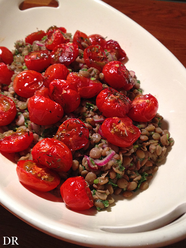 Plantaardigheidjes: Ottolenghi's Lentil Salad with Tomatoes