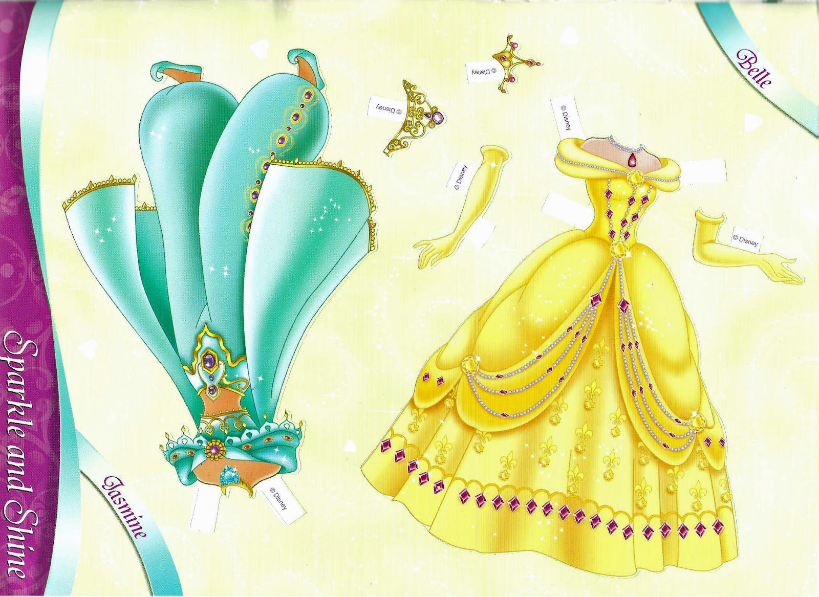 Miss Missy Paper Dolls All Dressed Up Disney Princess Princess Paper