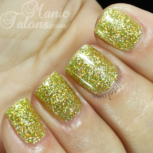 Madam Glam #144 Yellow Holo Swatch
