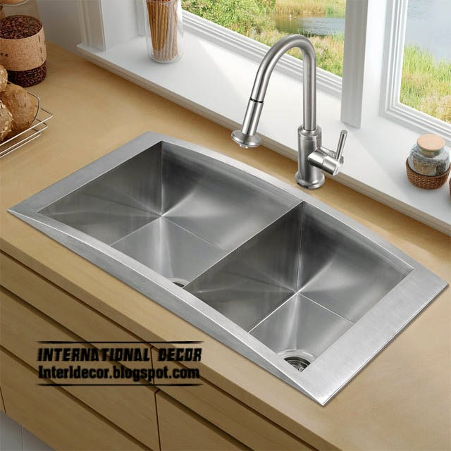 contemporary double kitchen sinks, stainless steel kitchen sinks
