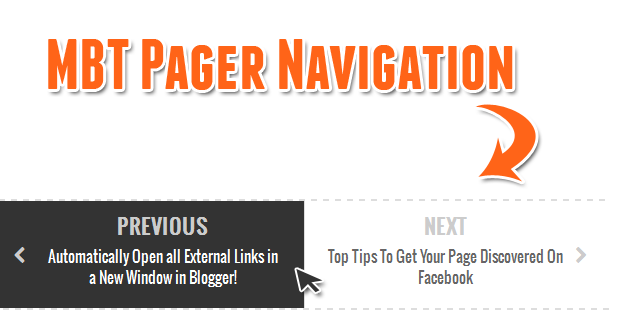 Next and Previous Post Title Widget for Blogger
