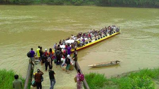 Tragedi Bot Karam Di Belaga, Sarawak 100 Dikhuatiri Lemas