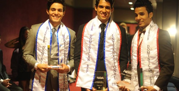 Mister Dominican Republic 2013 winners Jonathan Checo, Jerry Suero and Victor Matos