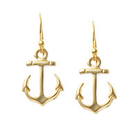 Gold Anchor Earrings1