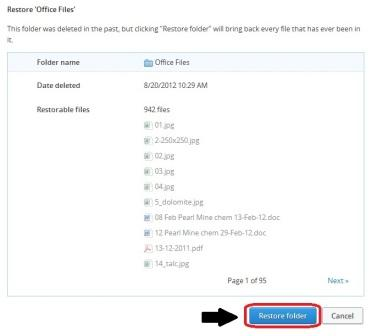 Restore a Deleted Folder or File in Dropbox