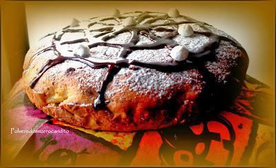 torta di zucca e cannella con scaglie di cioccolato