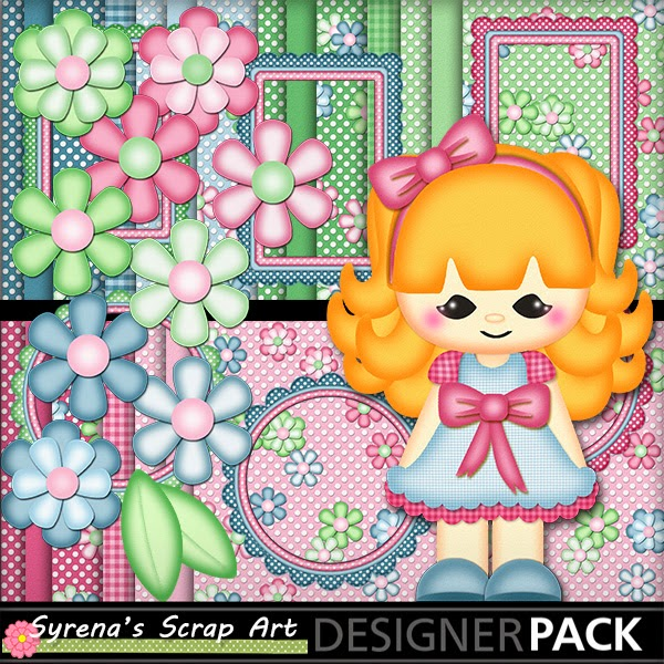 Little Girl Digital Scrapbook Kit
