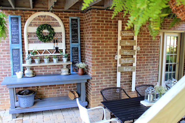patio potting bench