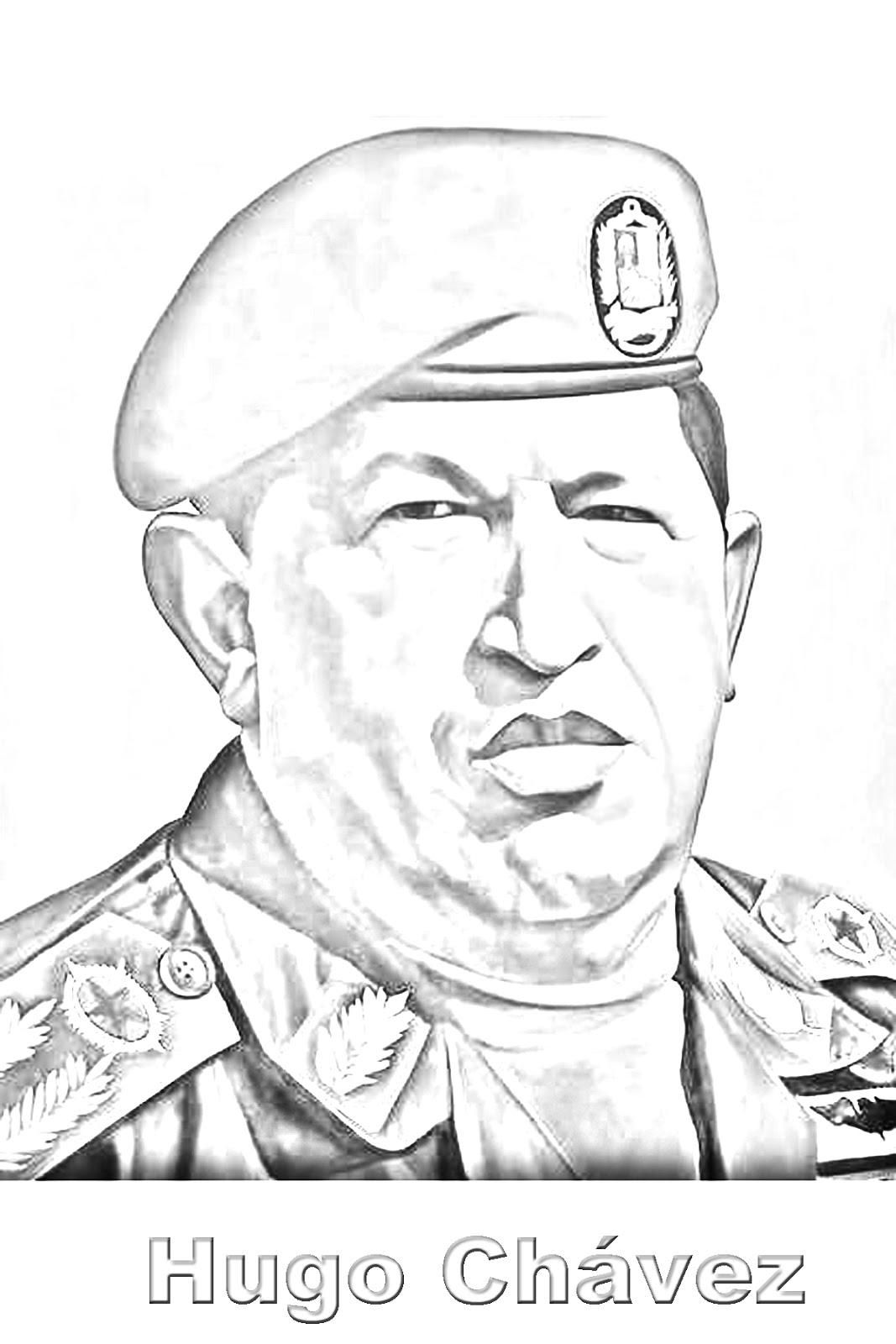 LAMINAS PARA COLOREAR - COLORING PAGES: Hugo Chavez para colorear