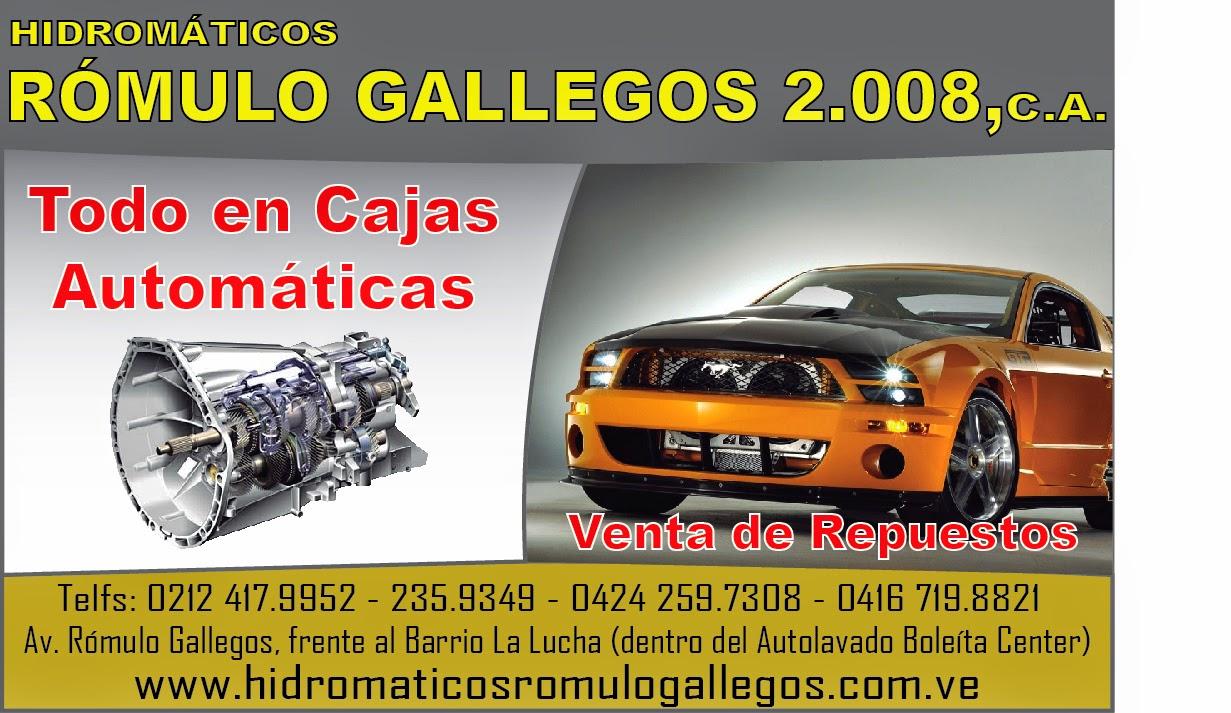 HIDROM�TICOS ROMULO GALLEGOS 2008, C.A. en Paginas Amarillas tu guia Comercial