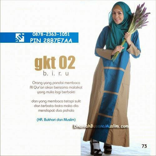 Gamis Sik Clothing GKT 02 Biru