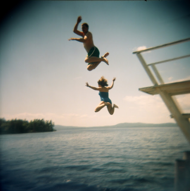 Dock Jumpers at Camp Wohelo, NELP Lake Sebago