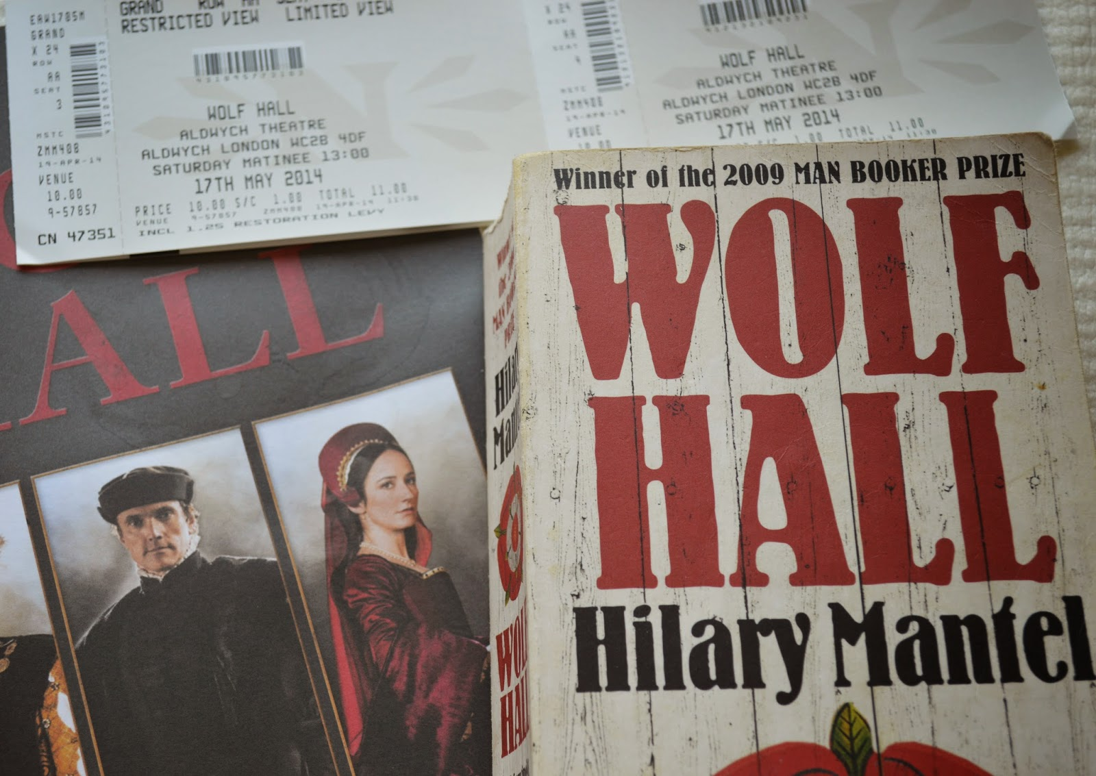Aldwych theatre, Wolf Hall, Hilary Mantel, RSC, production, review, Row AA seat 3, 4, restricted view, tickets
