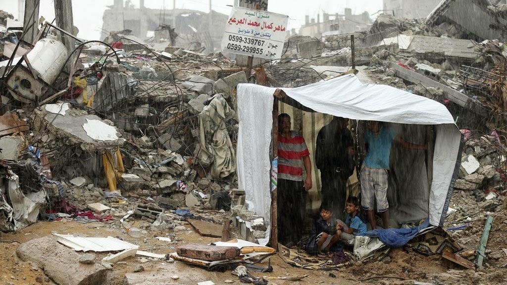 Crise de habitaçãoa em Gaza
