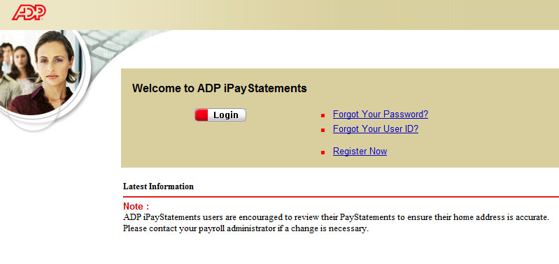 www.ipay.adp.com ADP IPAY iPayStatements Login