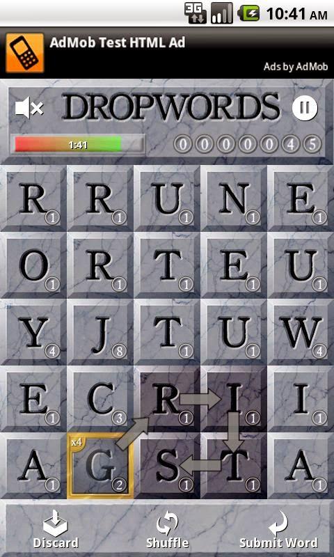 Kelime (Dropwords) Android Apk Oyunu resimi