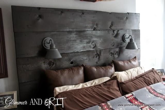 Reclaimed Wood Barn Light Headboard Tutorial