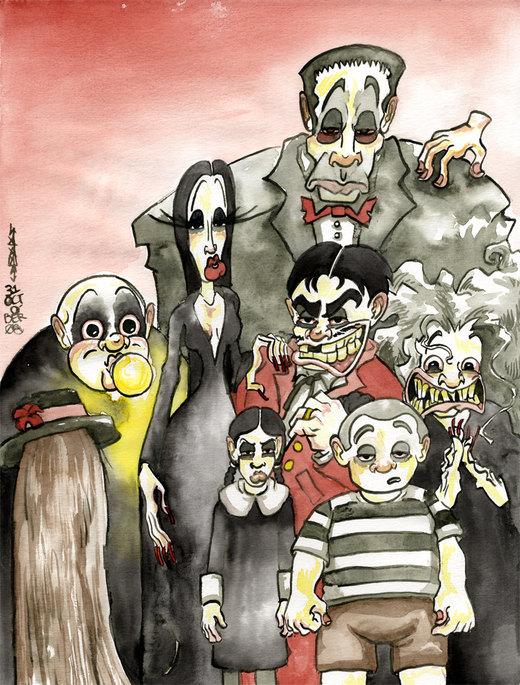 The Addams Family por JoJo-Seames