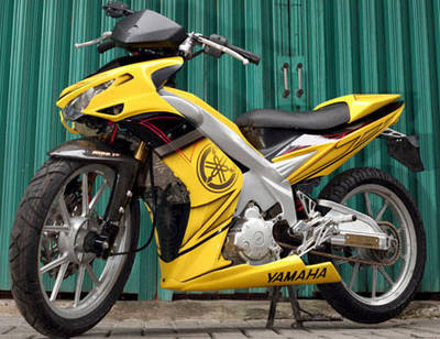 Modif Jupiter mx  kuning racing look