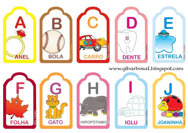 Flash Cards Alfabetário Maiúsculo