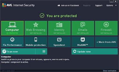 Gratis Internet Security AVG 2013 - Software pelindung saat berinternet