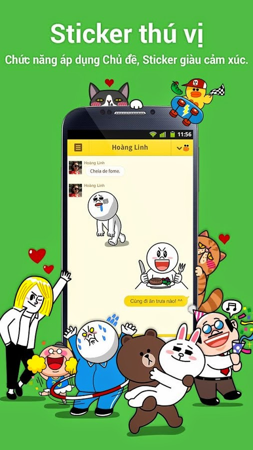 line chat tren android